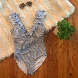 Flirty Ruffle One Piece Bathing Suit NWOT